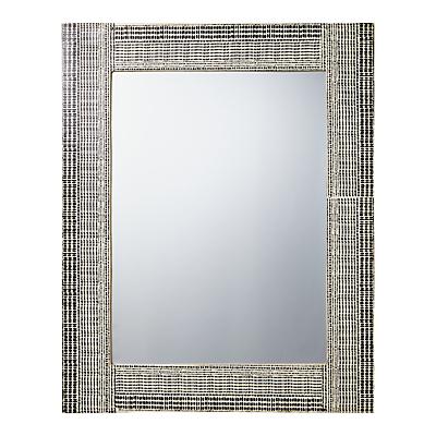 John Lewis Resin Textured Mirror, H76 x W61cm, Black/White