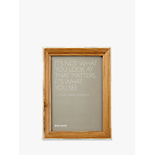 "Buy John Lewis Wood Frame With Bone Edge Photo Frame, 5 x 7"" (13 x 18cm) Online at johnlewis.com"