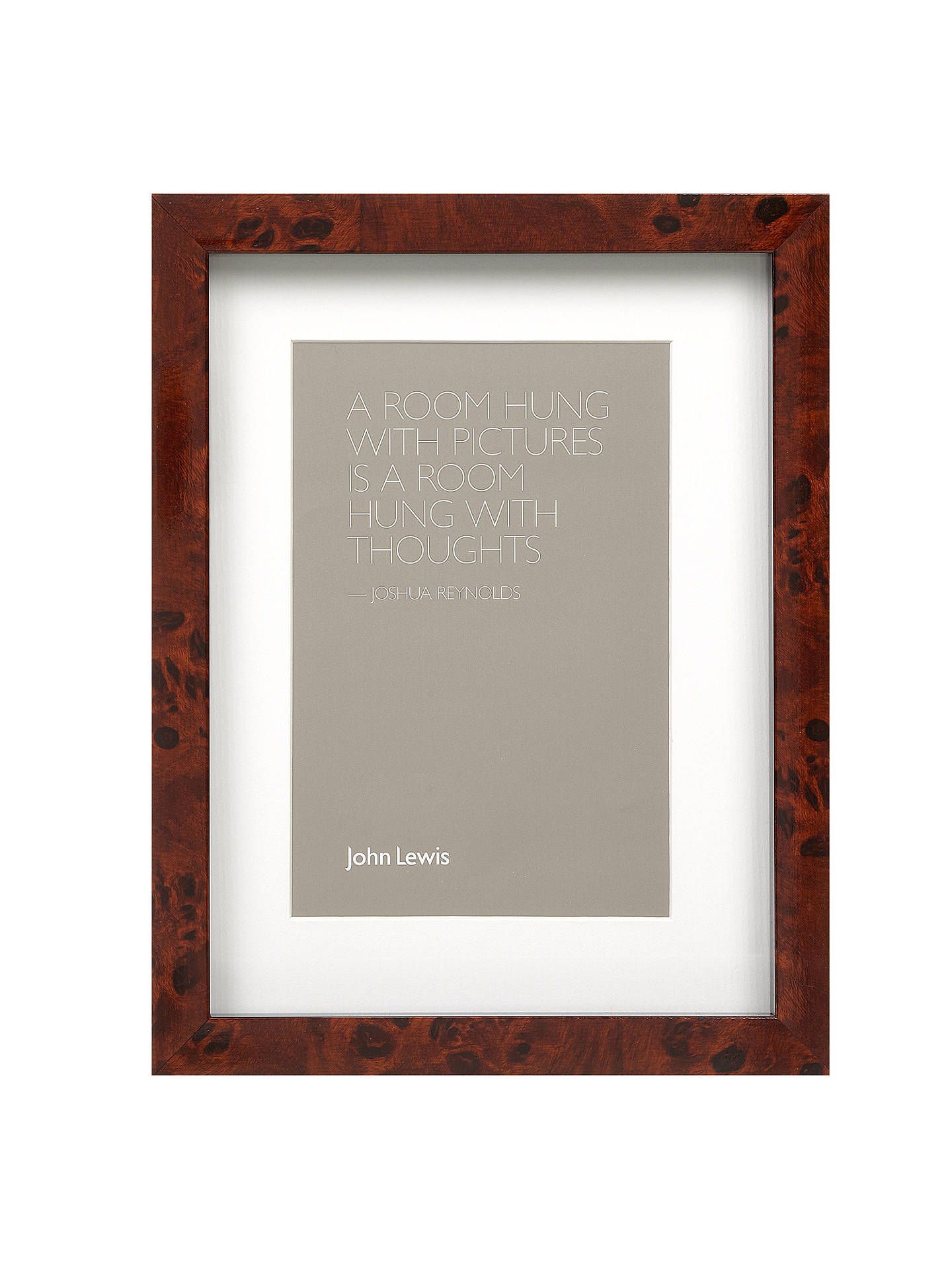 John Lewis Partners Walnut Finish Photo Frame 8 X 10 20 X 25cm