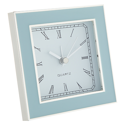 John Lewis Amy Silver Plated Mantel Clock