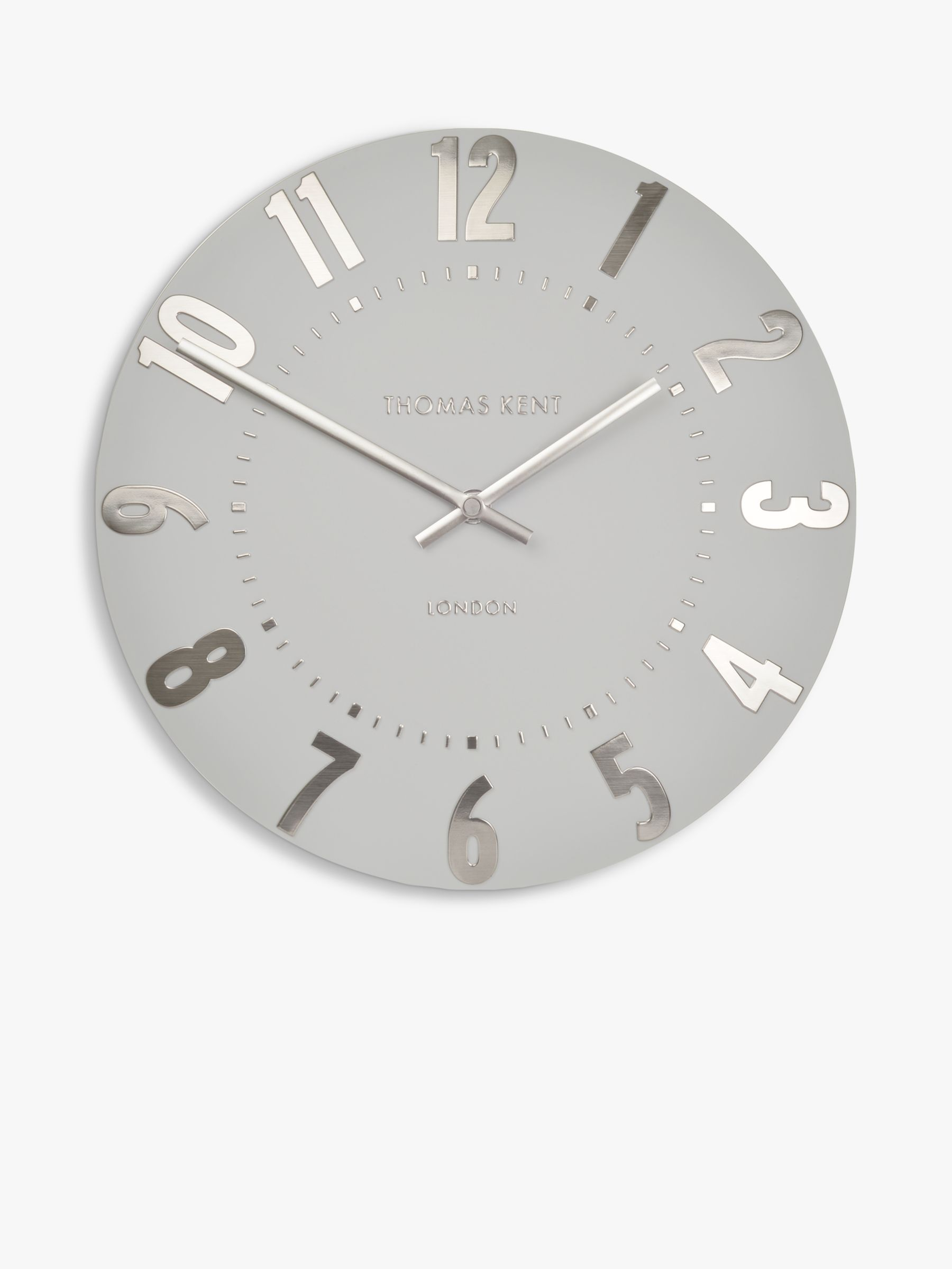 Thomas Kent Mulberry Wall Clock Dia30cm Silver Cloud At John
