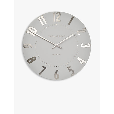 Buy Thomas Kent Mulberry Wall Clock Dia30cm Silver Cloud Online At Johnlewis