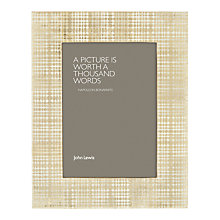"Buy John Lewis Dots Photo Frame, 5 x 7"" (13 x 18cm), Gold Online at johnlewis.com"