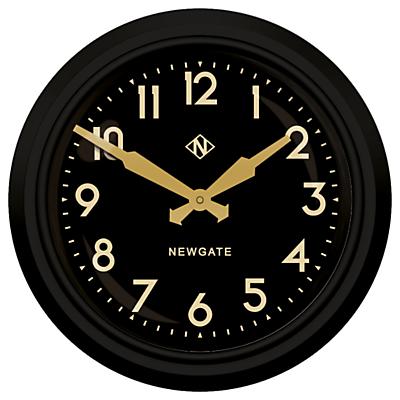 Newgate Electric Clock Matte, Dia.37cm, Black