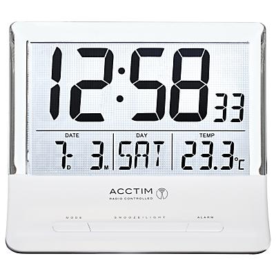 Acctim Torne Radio Controlled Alarm Clock, White