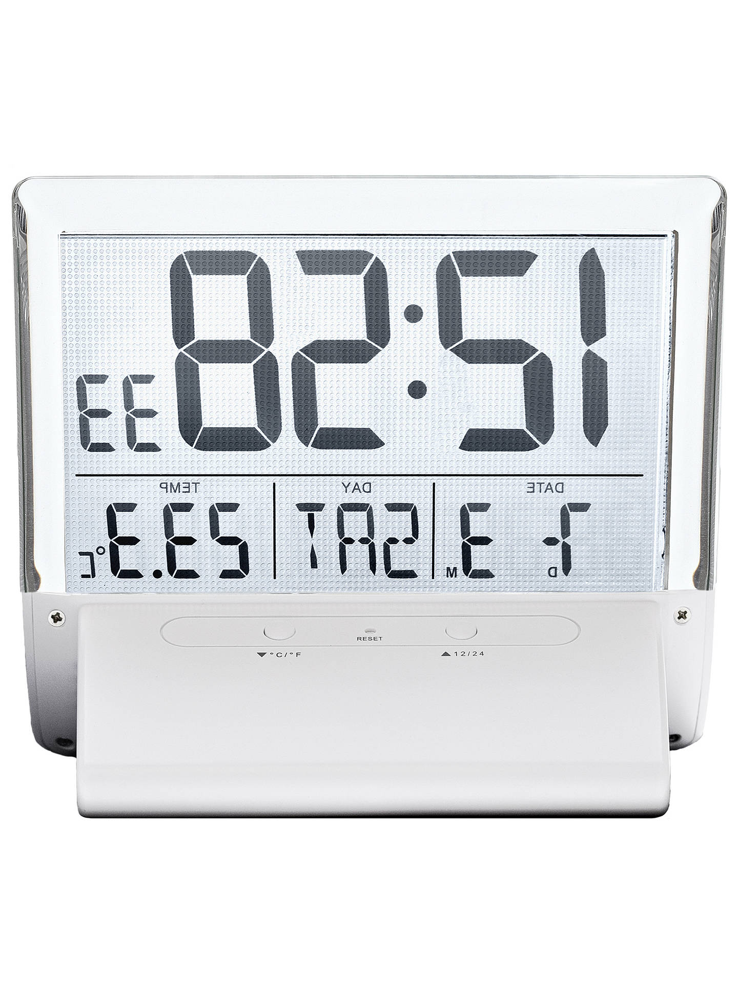 BuyAcctim Torne Radio Controlled Alarm Clock, White Online at johnlewis.com