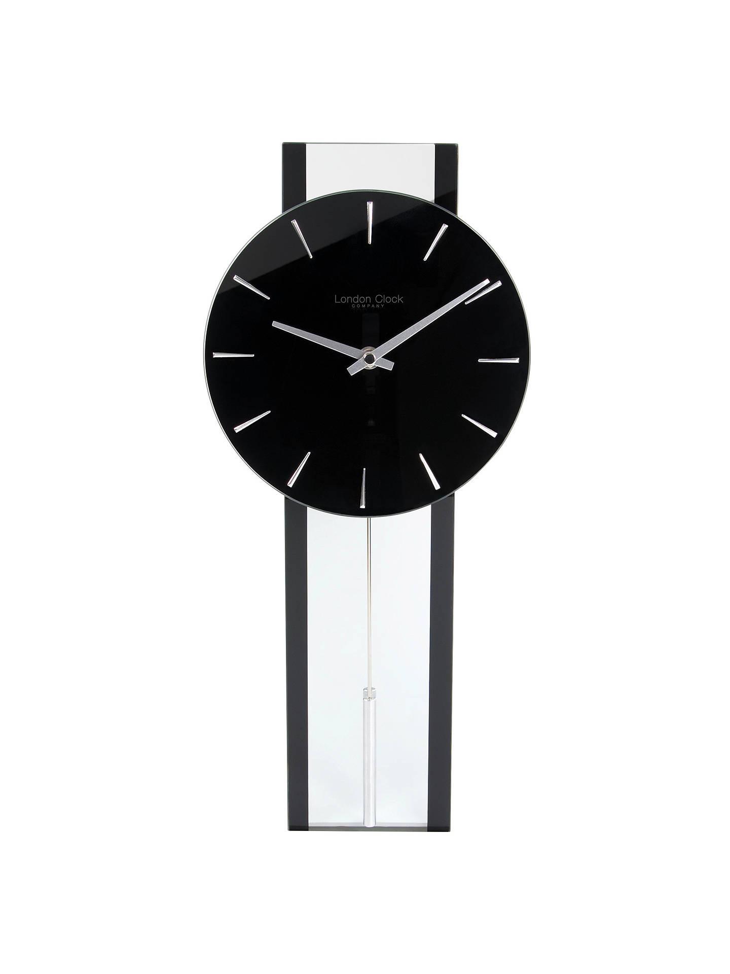 London Clock Company Pendulum Wall Clock Black At John