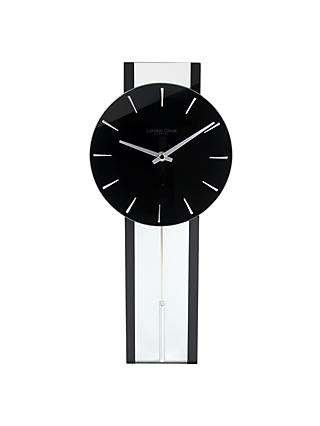 London Clock Company Pendulum Wall Clock, Black