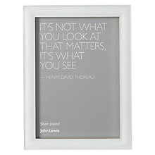 "Buy John Lewis Grace Pearlised Pale Enamel Photo Frame, 8 x 10"" (20 x 25cm) Online at johnlewis.com"