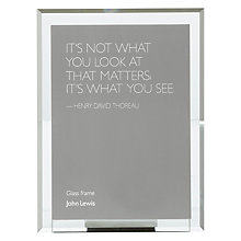 "Buy John Lewis Manhattan Glass Portrait Photo Frame, 4 x 6"" (10 x 15cm), Clear Online at johnlewis.com"