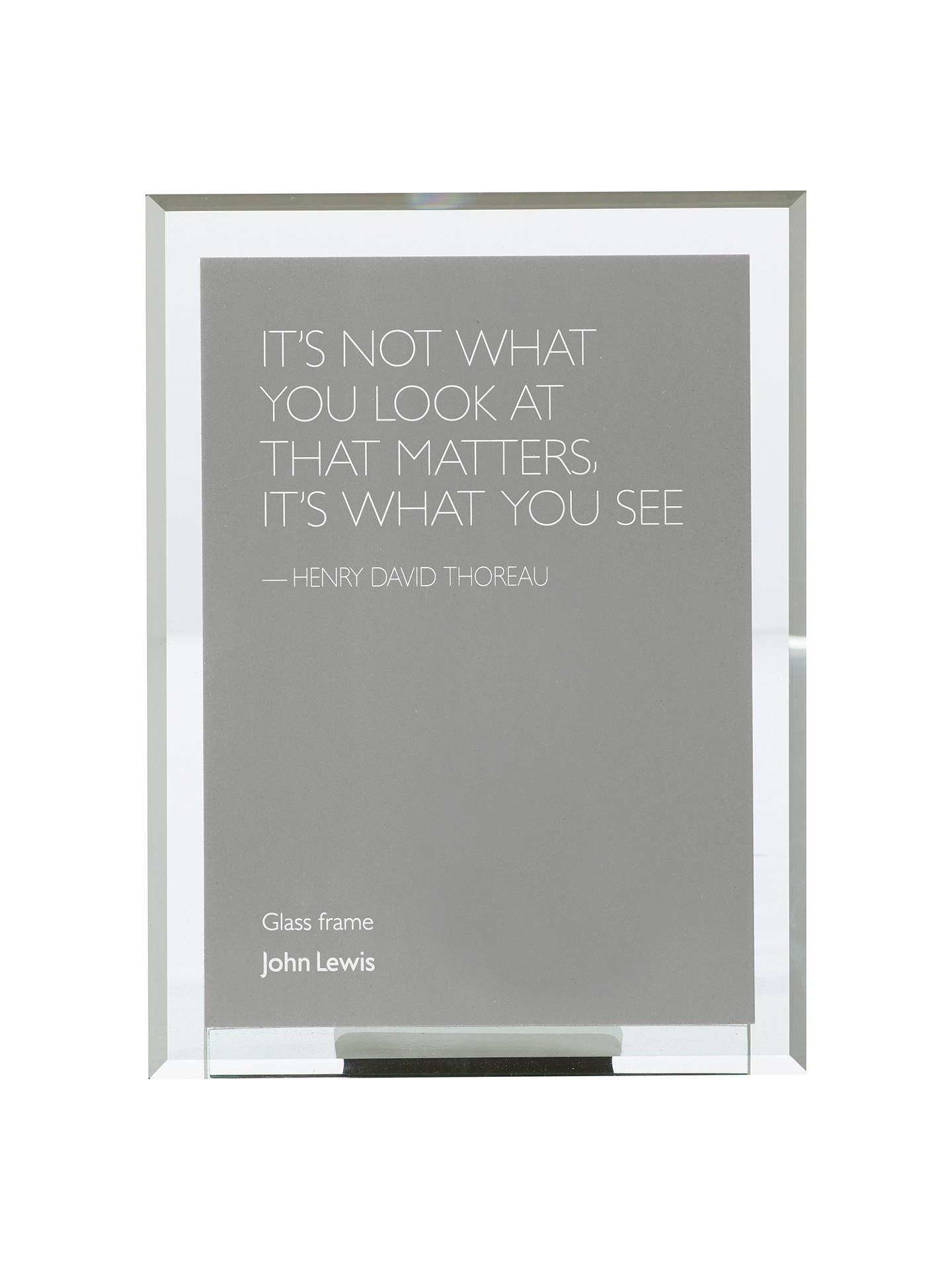 John Lewis Manhattan Glass Portrait Photo Frame 4 X 6 10 X 15cm