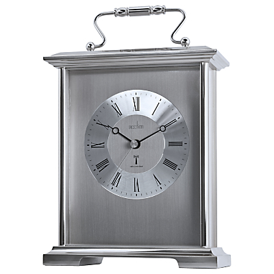 Acctim Althorp Radio Controlled Carriage Clock, Silver