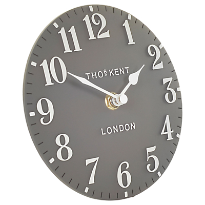 Thomas Kent Arabic Mantel Clock, Dia.15cm