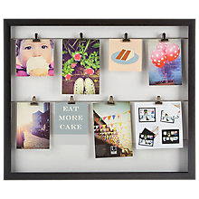 Buy Umbra Clip Photo Frame, Black Online at johnlewis.com