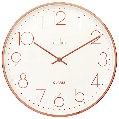 Acctim Embossed Dial Wall Clock, Copper