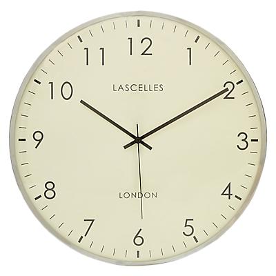 Lascelles Big Dome Wall Clock, Dia.40cm, Silver