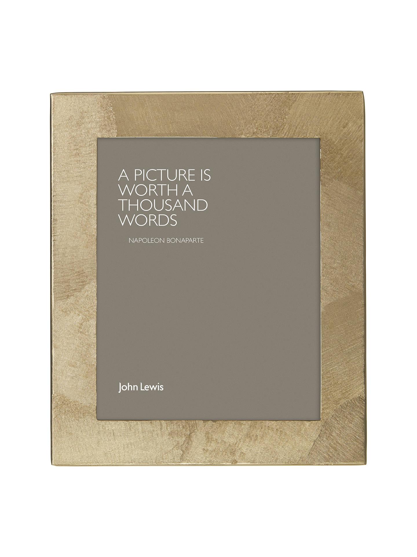 John Lewis Partners Metal Textured Photo Frame 8 X 10 20 X 25cm