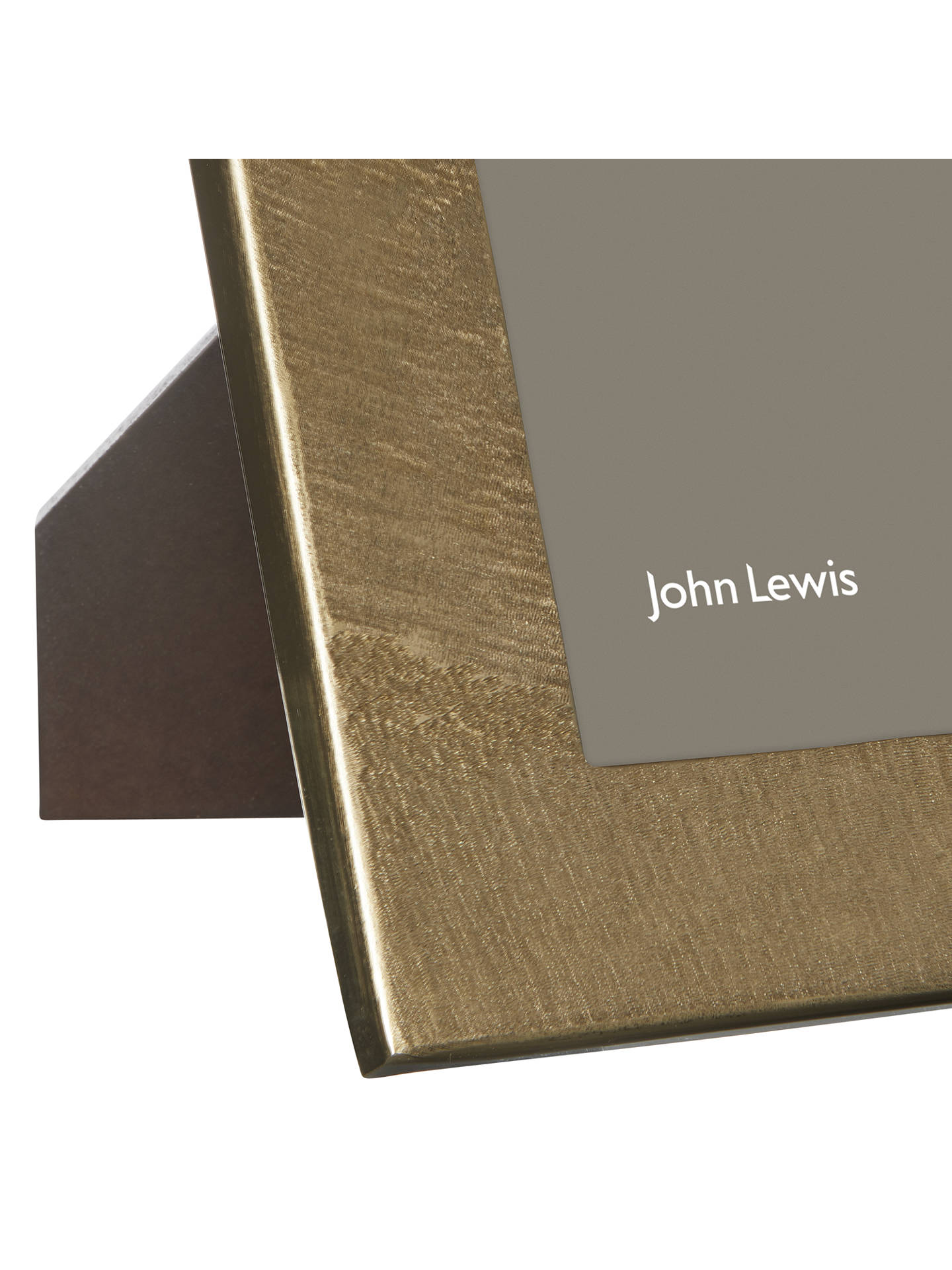 dd23a2bfaac ... Buy John Lewis   Partners Metal Textured Photo Frame