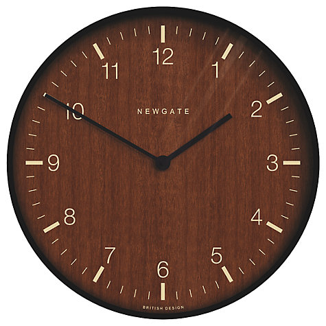 Clocks digital alarm clock travel alarm clock john lewis buy newgate no1 wooden wall clock dia53cm black online at johnlewis gumiabroncs Gallery