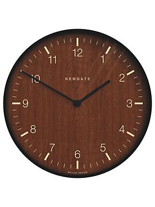 Newgate No 1 Wooden Wall Clock Dia 53cm Brown