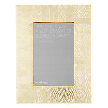 "Buy John Lewis Herringbone Photo Frame, 4 x 6"" (10 x 15cm), Gold Online at johnlewis.com"