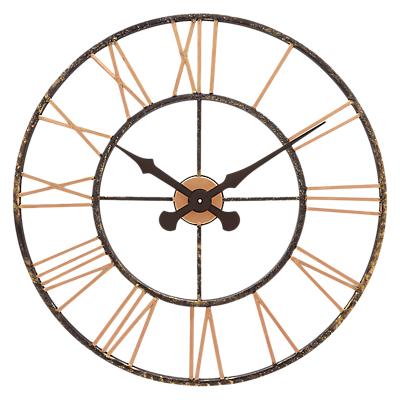 Lascelles Skeleton Style Oversized Clock, Dia.70cm, Copper