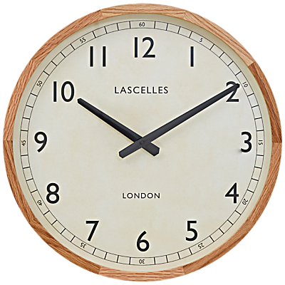 Lascelles Country Oak Clock, Dia.41.5cm, Brown