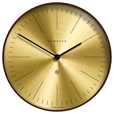 Newgate Mr Clarke Wooden Wall Clock, Dia.40cm, Dark Brown