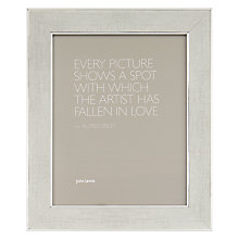 "Buy John Lewis Daria Linen Effect Photo Frame, 10 x 12"" (24 x 30cm) Online at johnlewis.com"