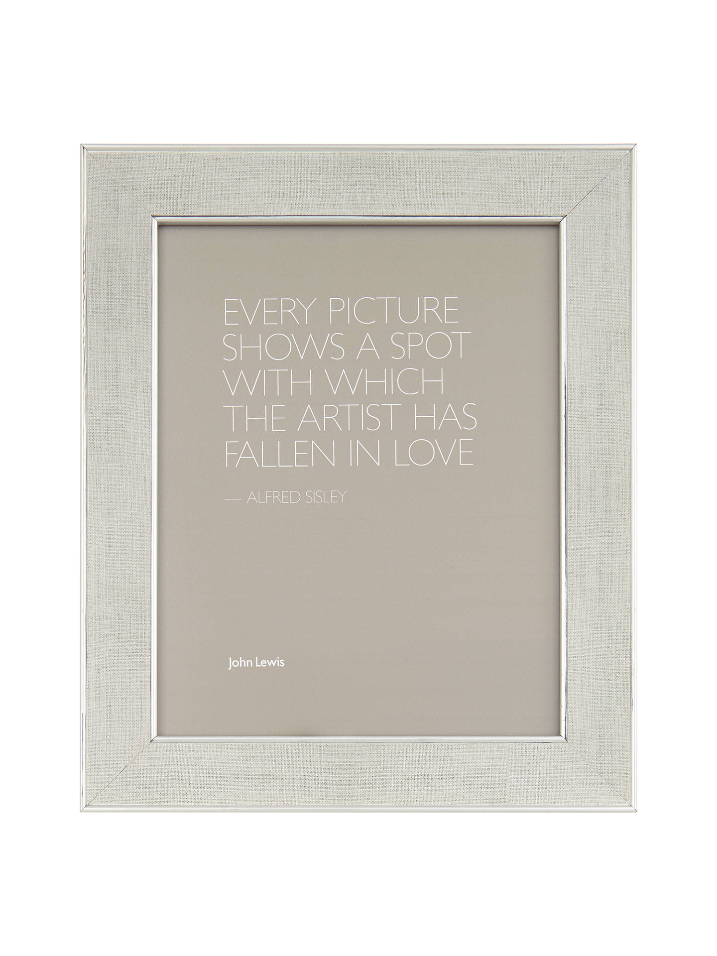 John Lewis Daria Linen Effect Photo Frame 10 X 12 24 X 30cm At