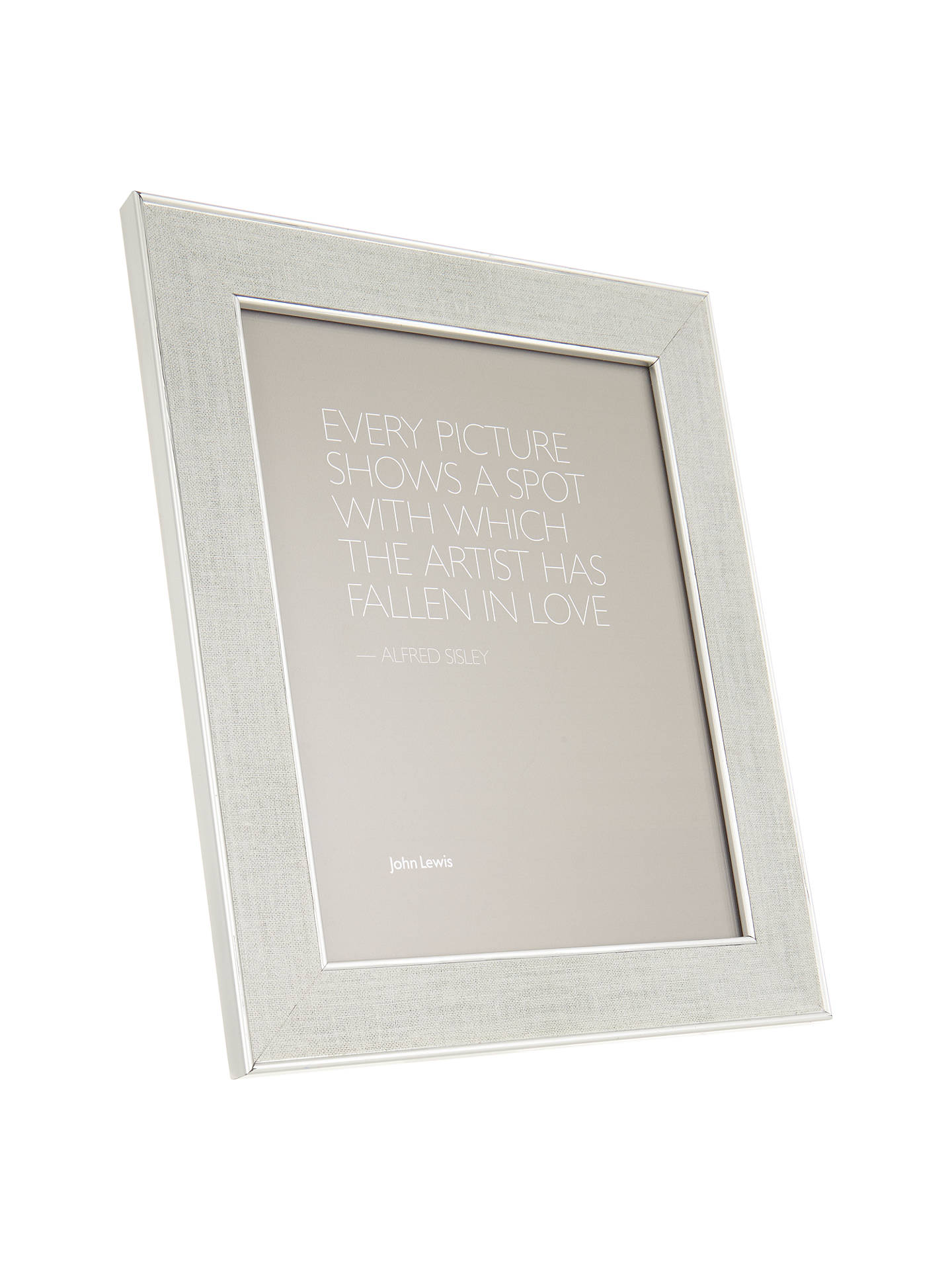 John Lewis Daria Linen Effect Photo Frame, 10 x 12\