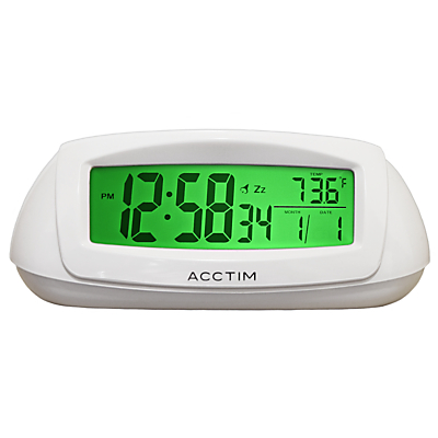 Acctim Sol Solar Dual Power Smartlite® Alarm Clock, White