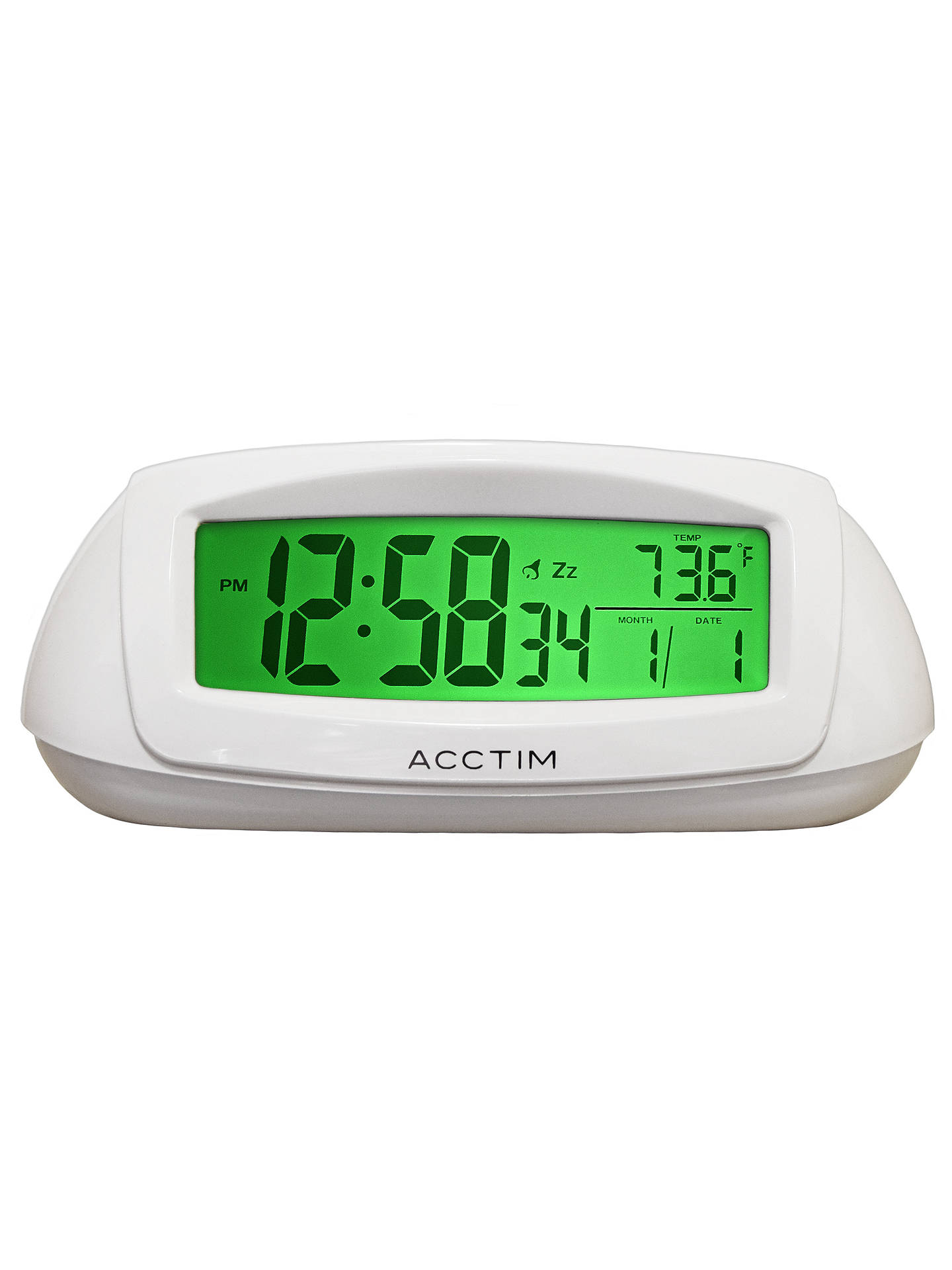 Buy Acctim Sol Solar Dual Power Smartlite® Alarm Clock, White Online at johnlewis.com