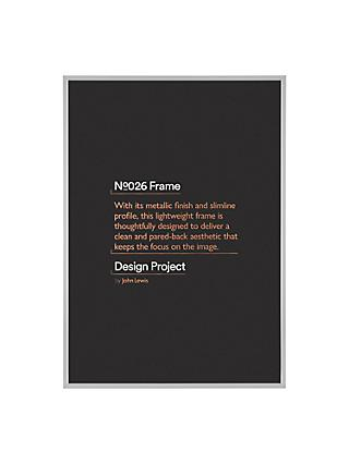 Design Project by John Lewis No.026 Metal Photo Frame, A2