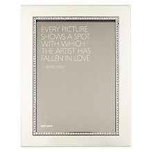 "Buy John Lewis Sparkle Photo Frame, 5 x 7"" (13 x 18cm), Silver Online at johnlewis.com"