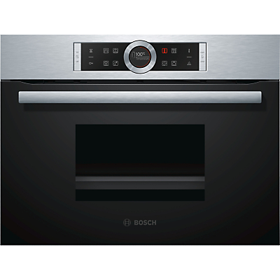 Image of BOSCH CDG634BS1B Compact Electric Steam Oven - Stainless Steel, Stainless Steel