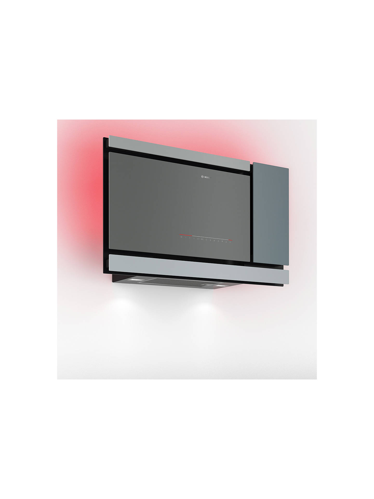 BuyBosch DWF97MS70B Chimney Cooker Hood, Grey Online at johnlewis.com
