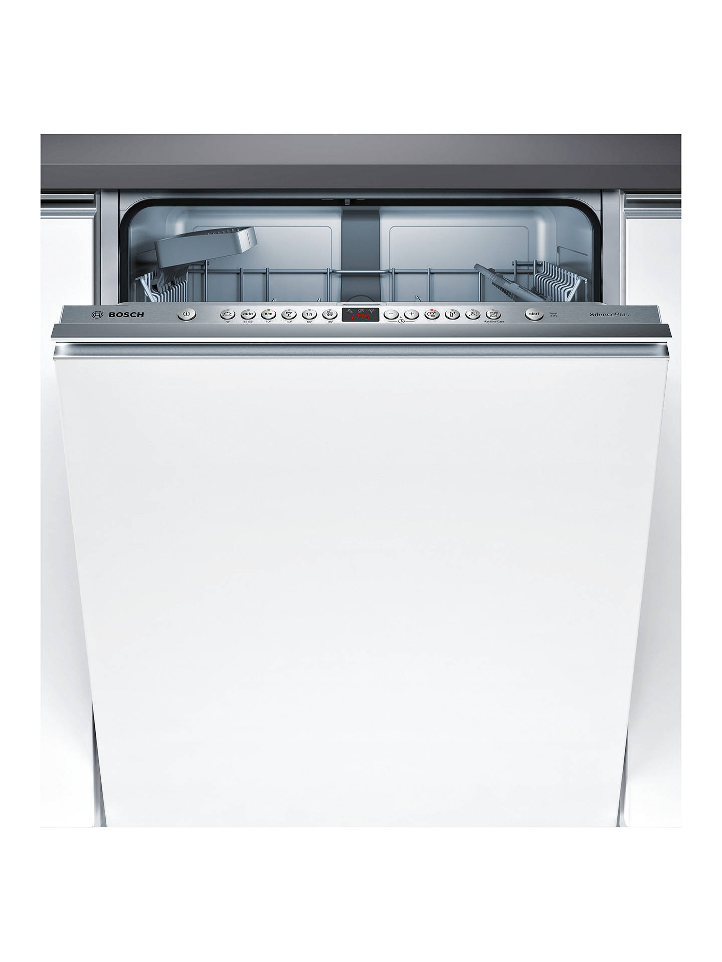 BuyBosch SMV46IX00G Integrated Dishwasher, Brushed Steel Online at johnlewis.com