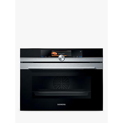 Siemens CS658GRS6B Single Compact Steam Oven, Black