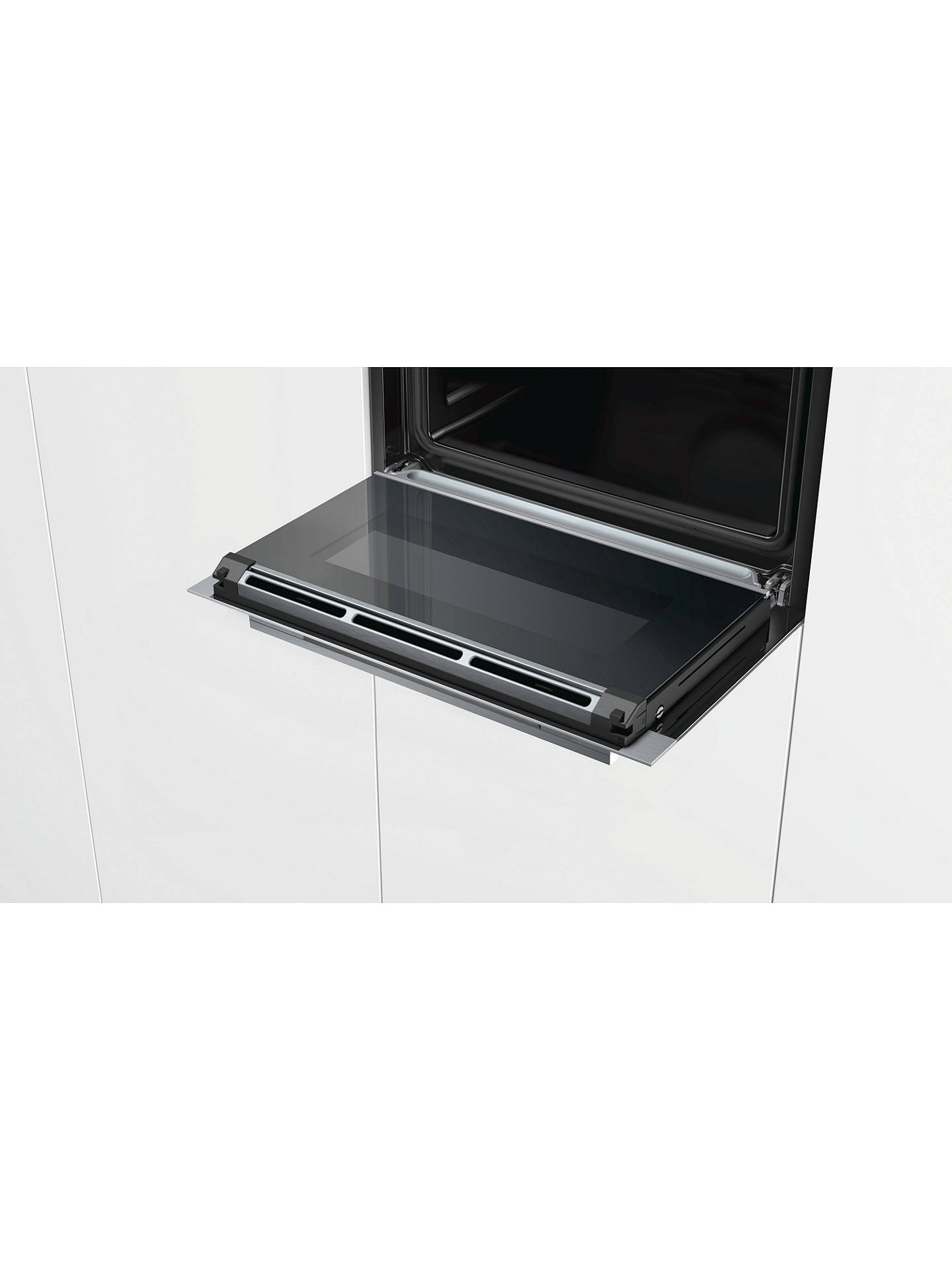 BuySiemens CS658GRS6B Single Compact Steam Oven, Black Online at johnlewis.com