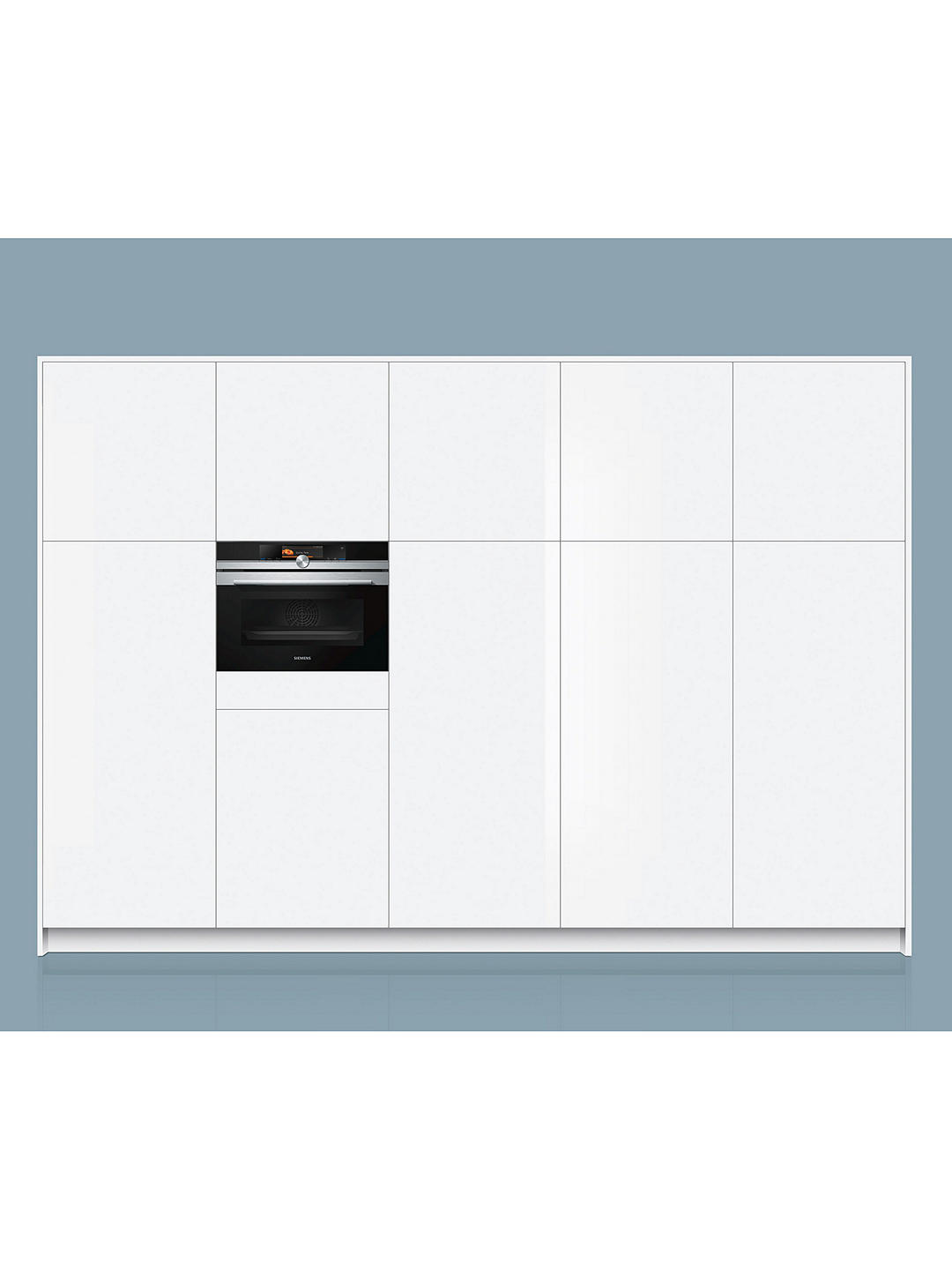 Buy Siemens CS658GRS6B Built-In Single Compact Steam Oven, Black Online at johnlewis.com