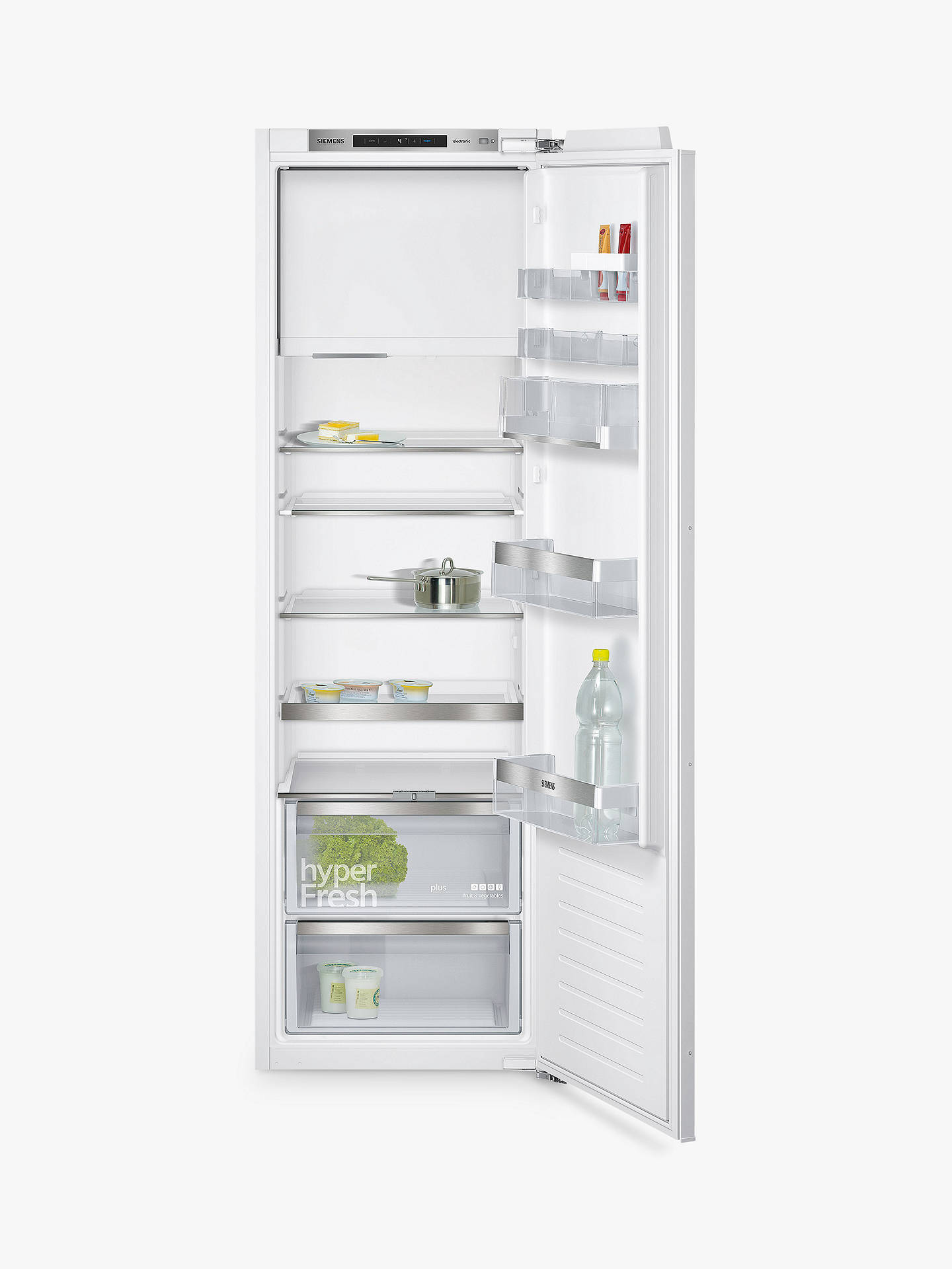 Buy Siemens KI82LAF30 Integrated Fridge with Freezer Compartment, A++ Energy Rating, 56cm Wide, White Online at johnlewis.com