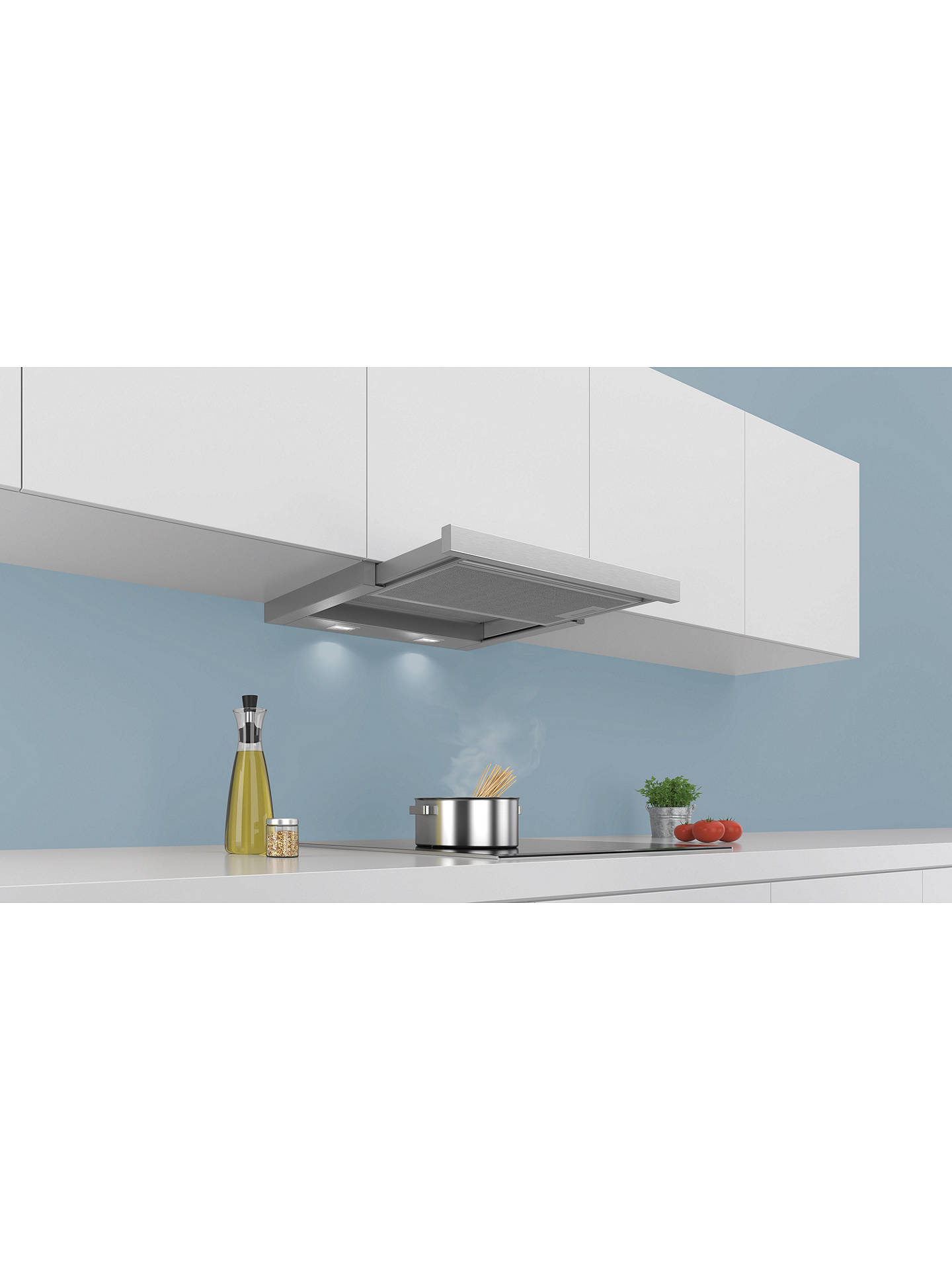 BuySiemens LI64MA530B Integrated Telescopic Cooker Hood, Silver Online at johnlewis.com