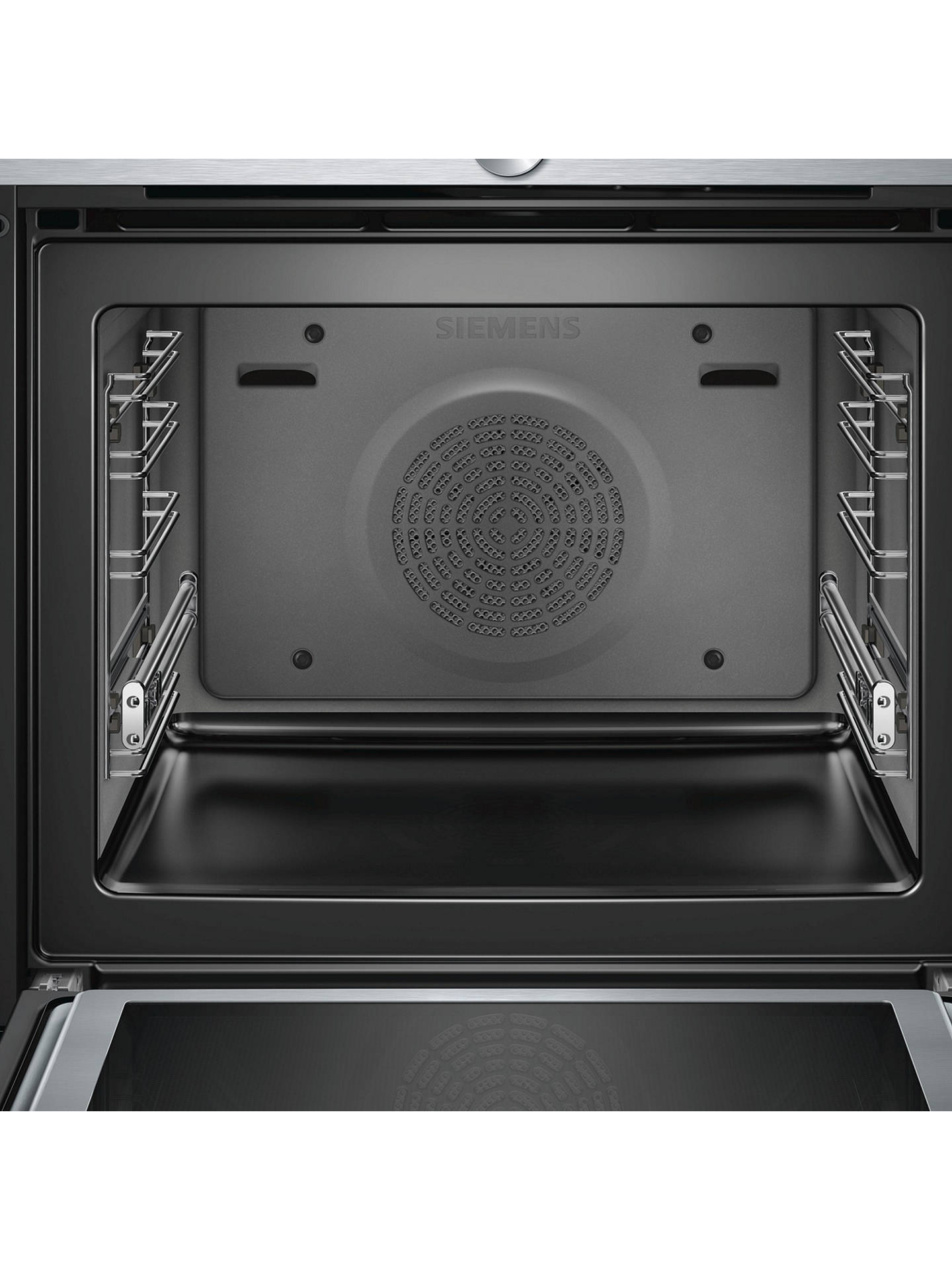 BuySiemens HM656GNS6B Built-In Single Oven with Microwave, Stainless Steel/Black Online at johnlewis.com