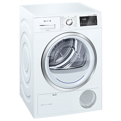 Siemens WT45M230GB Freestanding Condenser Tumble Dryer with Heat Pump, 8kg Load, A++ Energy Rating, White