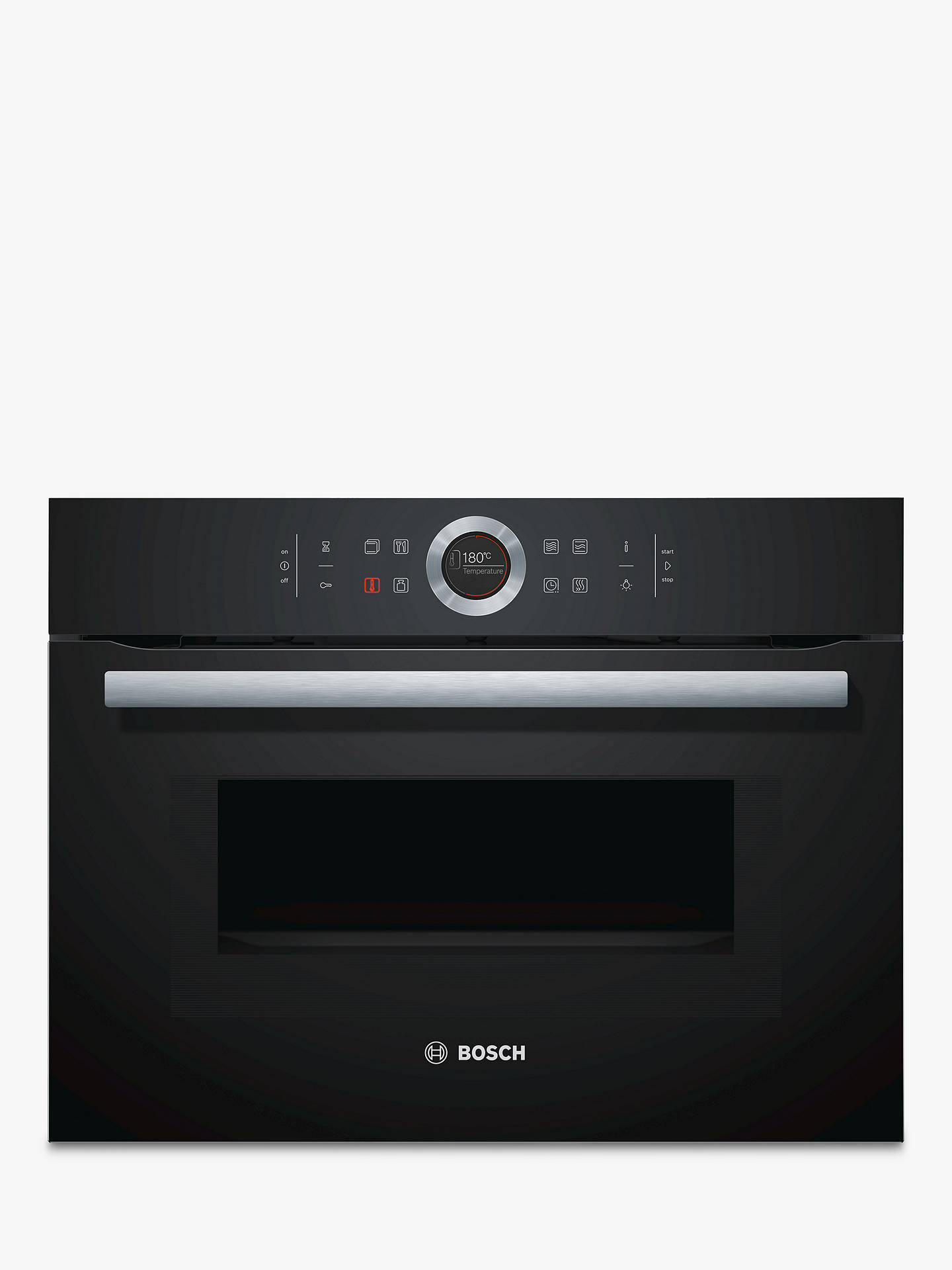 bosch cmg633bb1b built in compact oven with microwave black at john rh johnlewis com