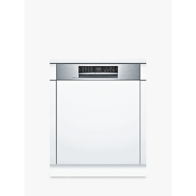 Bosch SMI68MS06G Integrated Dishwasher, Stainless Steel