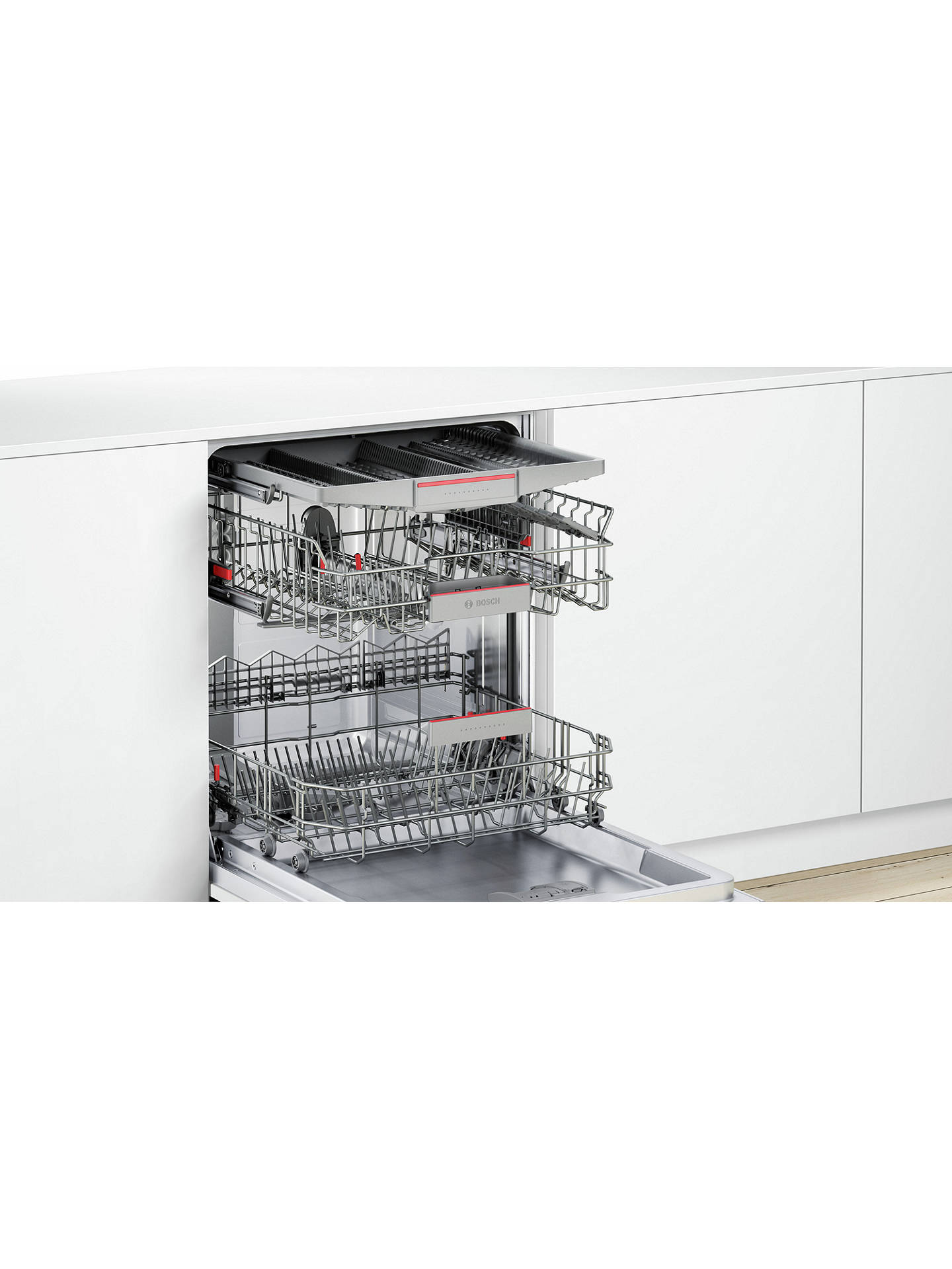 BuyBosch SMI68MS06G Integrated Dishwasher, Stainless Steel Online at johnlewis.com