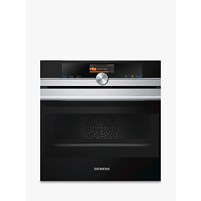 Siemens CM656GBS6B Built-In Compact Oven with Microwave, Stainless Steel/Black