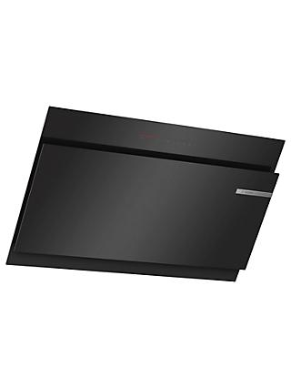 Bosch DWK97JQ60B 90cm Angled Chimney Cooker Hood, A Energy Rating, Black